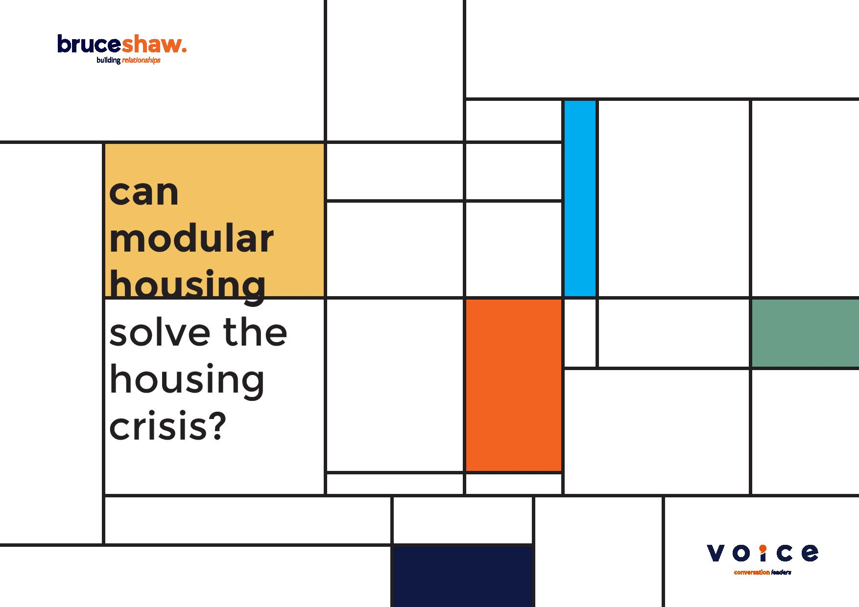 Bruceshaw explores the residential sector through modular housing