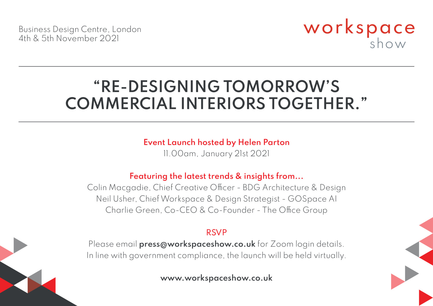 Brand new design event Workspace Show launches in London with a mission to bring together the commercial interiors community.