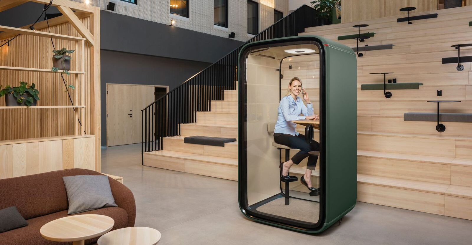Introducing Framery One, distributed by Welltek, the world's first connected soundproof pod