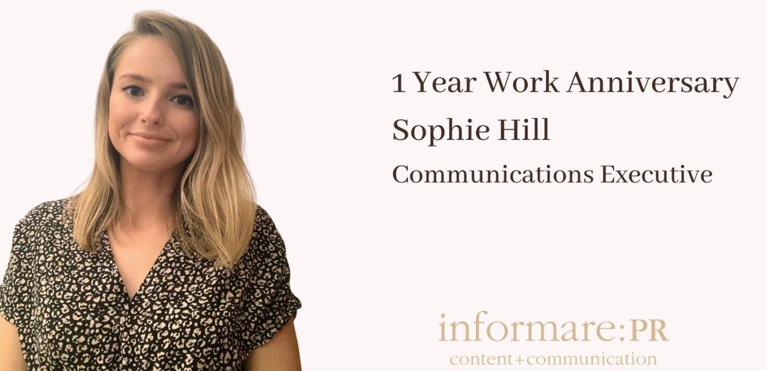 One Year Work Anniversary – Sophie Hill